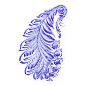 花の装飾的な飾りペイズリー — ストックベクタ