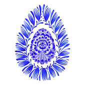 Floral decorative ornament easter egg — Stock Vector