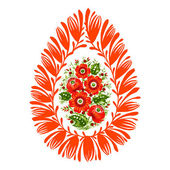 Decorative ornament Easter egg — Stock Vector