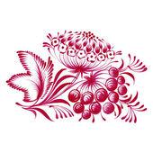 цветочный декоративный орнамент ветка с ягодами — Cтоковый вектор