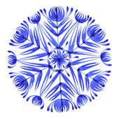 Floral decorative ornament snowflake — Stock Vector