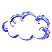 Decorative ornament cloud — Stock Vector