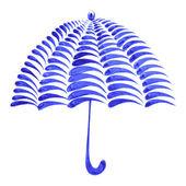Decorative ornament umbrella — Stock Vector