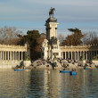Parque de Retiro in winter, Madrid, Spain — Stock Photo