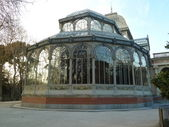 Palacio de Cristal, Madrid, Spain — Stock Photo