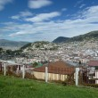 Panoramic view of Quito, Ecuador - Stock Photo