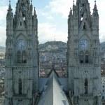 The Basilica of the National Vow (Spanish: Basílica del Voto Nacional), Quito, Ecuador. It is sometimes also called the Catedral Consagración de Jesús or the Basílica de San Juan. — Stock Photo