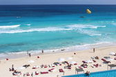 Carribean sea in Cancun, Mexico — Stock Photo