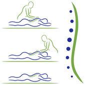 Massage Treatment — Stock Vector
