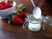 Panna Cotta preparation — Stock Photo