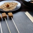 Sesame tofu skewers — Stock Photo