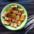 Marinated tofu — Stock Photo