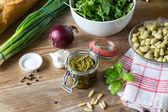 Bruschetta ingredients — Stock Photo