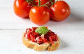 Bruschetta with tomato — Stock Photo