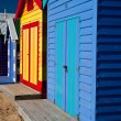 Brighton Beach Bathing Boxes — Stockfoto