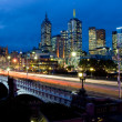 Royalty-Free Stock Photo: Melbourne Skyline Towards Fed Square