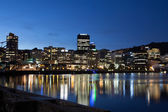 Wellington CBD at Dusk — Stock Photo