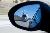 Truck in Mirror — Stock Photo