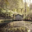 Stock Photo: Boathouse Serenity