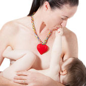 Mother Breast Feeding — Stock Photo