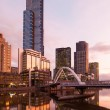 Melbourne Skyline at Dusk — Stock Photo