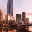 Stock Photo: Melbourne Skyline at Dusk