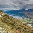 View over Queenstown — Stock Photo
