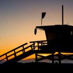LA County Lifeguard Tower — Stock Photo