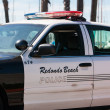 Redondo Beach Police Car — Stock Photo