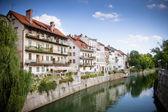 Ljubljana River View — Stock Photo