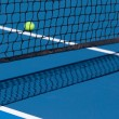 Stock Photo: Tennis Court with Ball and Net