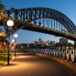 Stock Photo: Sydney Harbour Bridge At Dusk