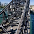 Stock Photo: The Sydney Harbour Bridge towards North Sydney