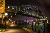 夕暮れ時にシドニーのハーバー ブリッジ — ストック写真