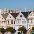 San Francisco Downtown Area from Alamo Square Park — Stock Photo