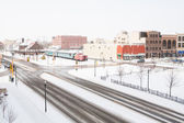 Downtown fargo in de winter — Stockfoto