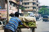 Banana Seller i n Mumbai — Stock Photo