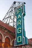 Fargo Theater Sign — Stock Photo