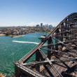 Stock Photo: North Sydney from the Harbour Bridge