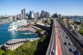 Sydney Skyline From The Harbour Bridge — Stock Photo