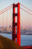 Golden Gate View At Dusk — Stock Photo