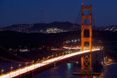 Golden Gate View at Night — Foto Stock