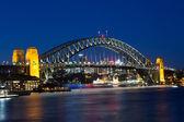 Sydney Harbour Bridge at Dusk — Stock Photo
