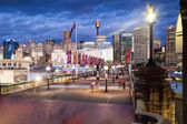 Pyrmont Bridge At Dusk — Stock Photo