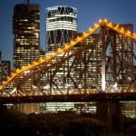 Brisbane Skyline At Dusk — Stock Photo