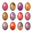 Stock Vector: Easter eggs set