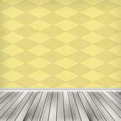 Empty room, interior with wallpaper — Stock Photo