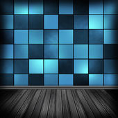 Blue empty room, interior with wallpaper. High resolution textur — Foto Stock