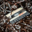 Cassette and tape background — Stock Photo #25900965
