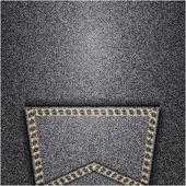 ジーンズの背景。ベクトルのテクスチャです。ファブリック テキスタイル デザイン. — ストックベクタ